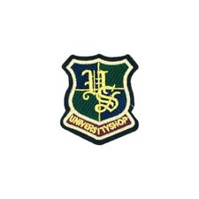 University Shop Shield Badge (Iron On) Embroidery Applique Patch Sew Iron Badge