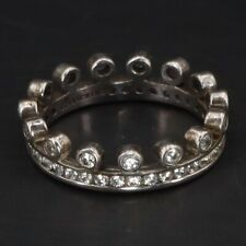 Crown Band Ring Size 7 - 3g Sterling Silver - Hidalgo Cz Cubic Zirconia Royal
