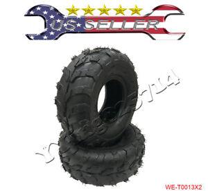 2 pieces 145/70-6 Front Rear Tubeless Tires 70 90 110cc Taotao Quad ATV Go-Kart