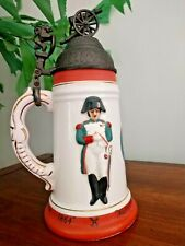 Rare! Vintage Napoleon 1864 Wind Up Music Stein - plays French National Anthem