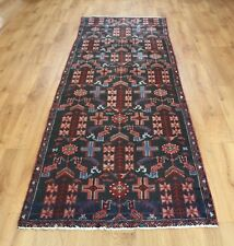 Traditional Vintage Wool Handmade Classic Oriental Area Rug Carpet 270 X 89 cm