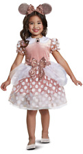 Disney Rose Gold Minnie Classic Toddler Girls' Halloween Costume Size 3T-4T