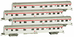 Micro-Trains MTL Z-Scale 83ft Lightweight Sleeper Cars Southern Pacific/SP - 4Pk
