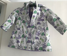 Girls Fleece Lined Marks & Spencer Hooded Rain Coat 2-3 Years