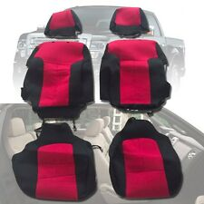 Ford F150 Super Crew pickup 2009-14 custom full set seat covers red FSC14red
