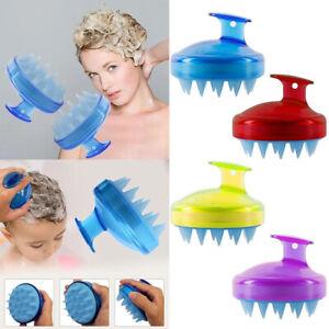 Silicone Hair Scalp Massager Brush Massaging Shampoo Brush Shower Cleaner Bath
