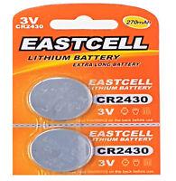 ☀️☀️☀️☀️☀ 2 x CR2430 3V Lithium Batterie 270 mAh ( 1 Cards a 2 Batterien ) EAST
