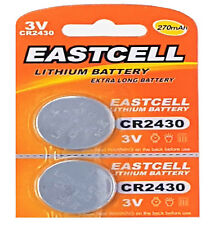 2 x CR2430 3V Lithium Batterie 270 mAh ( 1 Blistercard a 2 Batterien  EASTCELL
