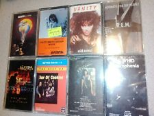 MIXED LOT OF 8 SEALED BRAND NEW CASSETTE TAPES - ROCK -