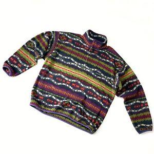 Men's Vintage Patagonia Aztec Made in USA Fleece Jacket Size XL