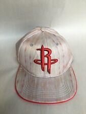303658161bdc3 RARE Houston Rockets NBA Red Raised Logo Snapback Hat Cap EUC Neutral  Multicolor