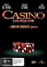 CASINO (Robert De NIRO Sharon STONE Joe PESCI) Crime Mafia Film (2 DVD SET) NEW