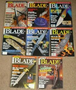 Lot of 8 BLADE Magazines Knife Complete Year 1994 Volume 21 XXI Uncirculated NOS