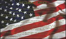 "Riflemans Creed American Flag- 40"" x 24"" LARGE WALL POSTER PRINT NEW"