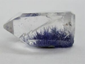Awesome Dumortierite Crystals Inside Polished Quartz Point from Brazil 6.3cts