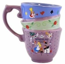 Disney Parks Alice in Wonderland Mad Tea Party Triple Stackable Mug New