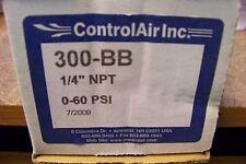 """NEW ControlAir Inc 300-BB 1/4"""" NPT 0-60 PSI Filter Regulator"""