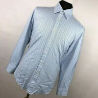 Charles Tyrwhitt 16 34 Mens Dress Shirt Slim Fit Blue Stripe Button Down  L1