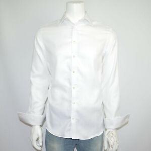 CHARLES TYRWHITT Slim Fit Non Iron White Cotton Dress Shirt 15 - 33 French Cuff