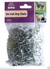 3M Dog Metal Link Chain Rope Collars Leashes Pet Animal Guard Up Cable Tie Out