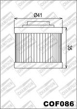 COF086 Filtro De Aceite CHAMPION Aprilia125 Scarabeo Net es decir,1252010 11