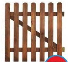 Wooden gate picket garden gate H80xL100cm planed wood palisade picket fence