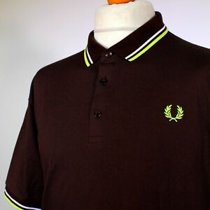 Fred Perry Made in Japan Twin Tipped Polo (XL/2XL - Brown) Mod 60's Casuals Rare