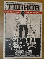 Terror + Wisdom In Chains, Twitching Tongues Glasgow jan.2016 concert gig poster