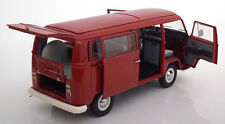 Schuco 1967-1970 Volkswagen VW T2a Bus Red 50 years VW Edition 1/18 Scale New!