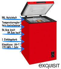 Exquisit Gefriertruhe Rot Tiefkühltruhe Eisschrank Freistehend 98L GT 111-5A+