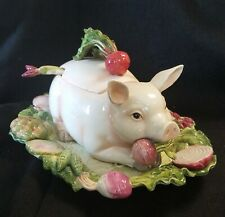Fitz & Floyd French Market Pig Soup Tureen & Platter