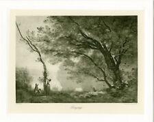 """COROT : Paysage"" Phototypie originale BRAUN CLEMENT & Cie 1890"