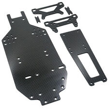 Graphite Chassis Upgrade Set for Tamiya TA02 TA02SW. Replaces FRP chassis.