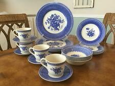 Queens OUT OF THE BLUE 20 Piece Place Settings Dinner Salad Saucer Plates Bowl