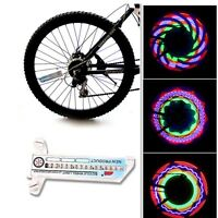 16 LED Bicycle Motorcycle Car Bike Tyre Tire Wheel Valve Flash Spoke Light Lamp