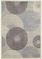 "Nourison Graphic Illusions 5'3"" x 7'5"" Area Rug in Grey"