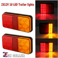 PAIR 12V LED TRAILER REAR TAIL LIGHTS LAMP MULTIFUNCTION CARAVAN TRUCK LORRY