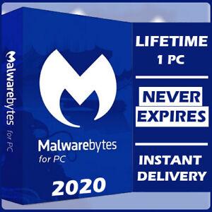Malwarebytes Premium Antimalware 2020 For 1PC LifeTime ✅