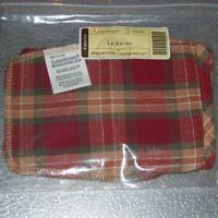 Longaberger Orchard Park Plaid LARGE RECIPE Basket Liner ~ Brand New in Bag!