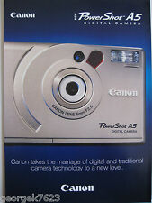 Canon Powershot A5 digital camera sales brochure - 6 pages - 1997