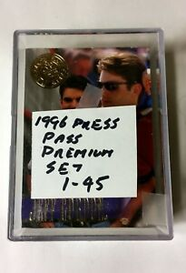 1996 Press Pass Premium NASCAR Racing Card Complete Set Of 45 Cards Jeff Gordon