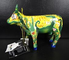 Cow Parade Con On The Cow Figurine Green Yellow