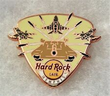 HARD ROCK CAFE MEMPHIS MILITARY TANK & AIRPLANES GUITAR PICK PIN # 89660