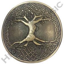New H M Men's Tree Celtic Round Kilt Belt Buckle Antique Finish/Belt Buckles