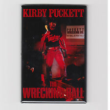 KIRBY PUCKETT WRECKING BALL - MINI POSTER FRIDGE MAGNET costacos nike mlb twins
