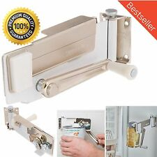 Heavy Duty Kitchen Manual Wall Mount Can Opener Magnetic Lifter Swing Away,White