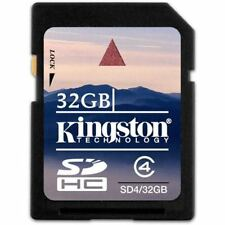 Kingston 32GB Flash Memory Card SDHC Class 4 for Digital Camera Phone Video