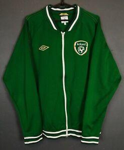 MEN UMBRO IRISH REPUBLIC OF IRELAND NATIONAL JACKET SOCCER FOOTBALL GREEN SIZE L