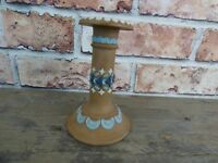 Antique 1890's Doulton Lambeth Silicon Hand Crafted Candlestick.
