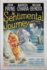 SENTIMENTAL JOURNEY 1946 ORIGINAL MOVIE POSTER - JOHN PAYNE & MAUREEN O'HARA